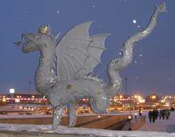 Зилант-дракон на улицах города